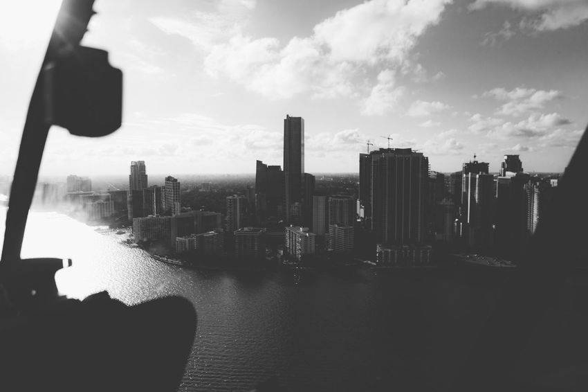 A Bird's Eye View South Miami South Florida Florida Helicopter Aerial Landscape_Collection Landscape Skyporn Sky And Clouds Sky Blackandwhite
