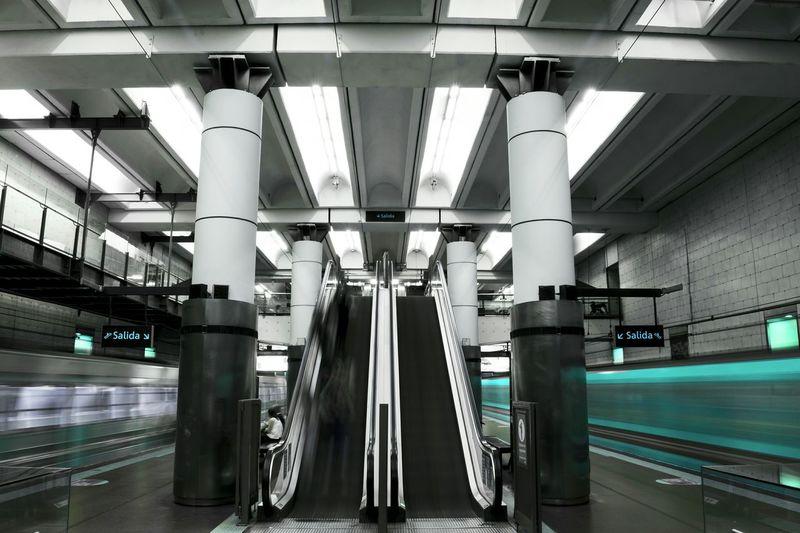 Subte de Buenos Aires Buenos Aires Argentina Subway Subte Underground Cyan Speed Speeding Urbex Symmetry Mycity Caba