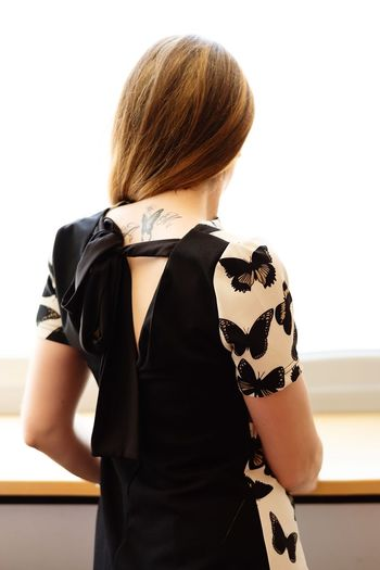 #butterfly Butterfly Woman Business White Background Human Back Back Young Women Women Females Fashion Rear View Businesswoman Fashion Show Dyed Hair Fashion Industry Sleeveless Dress Sleeveless  Fashion Model Model Backstage The Fashion Photographer - 2018 EyeEm Awards