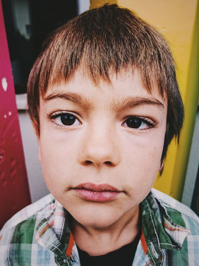 EyeEmNewHere Boy Childhood Close-up Day Elementary Age Eye Front View Headshot Human Face Looking At Camera One Person Portrait