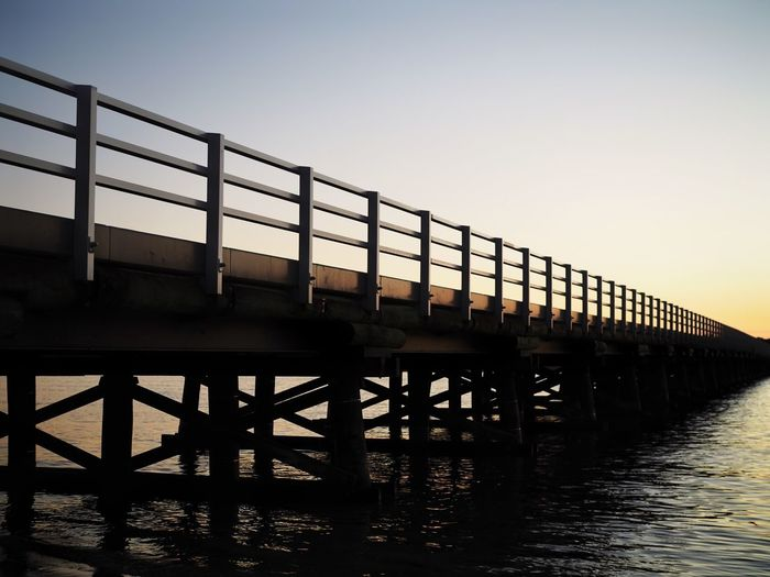 Barwon Heads Bridge, Victoria, Australia Barwon River Australian Landscape Australia Victoria Barwon Heads Bridge Barwon Heads Built Structure Clear Sky Railing Water River Bridge - Man Made Structure Sunset Architecture No People