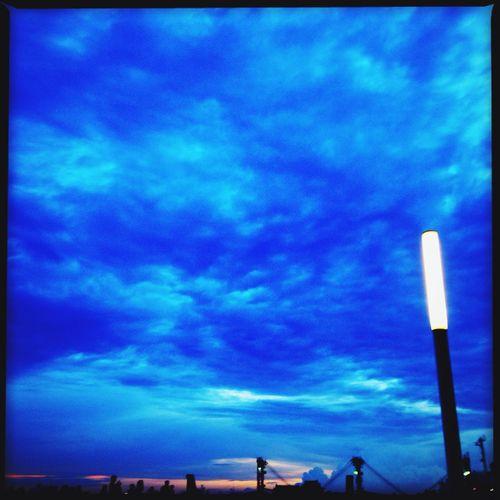 Night Lights Bangkok Sky And Clouds Nyth