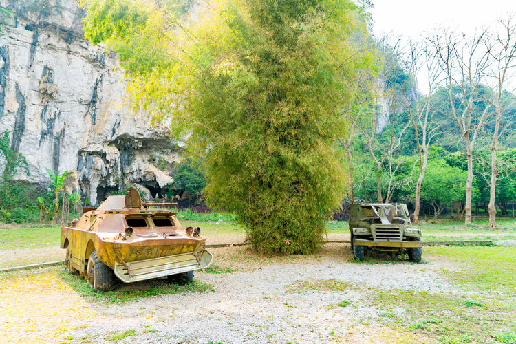 Car parked in rural area