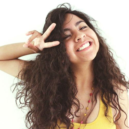 Long Hair Haircurly Happiness Amorypaz Colors Woman Yellow