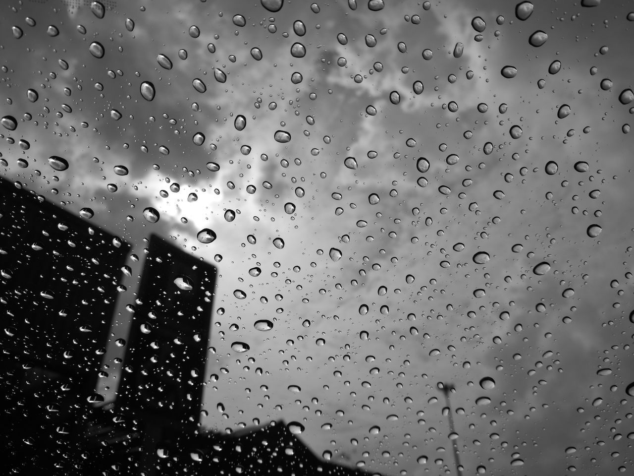 drop, wet, rain, window, water, raindrop, no people, weather, close-up, backgrounds, day, nature, indoors, full frame, architecture, sky, freshness