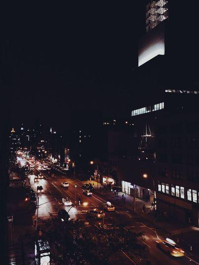 Bowery at night. New York City Life Cityscape Nightphotography Cars