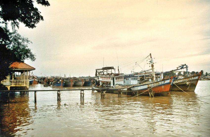 Sunset Vietnam Indochine River Mekong