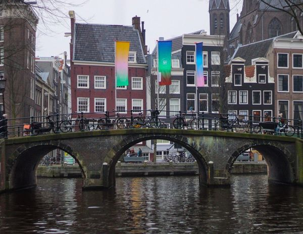 A weekend away Colourful Bridge Bike Canal Architecture Built Structure Building Exterior Bridge - Man Made Structure Water No People Waterfront Transportation Day Outdoors City Travel Destinations Sky