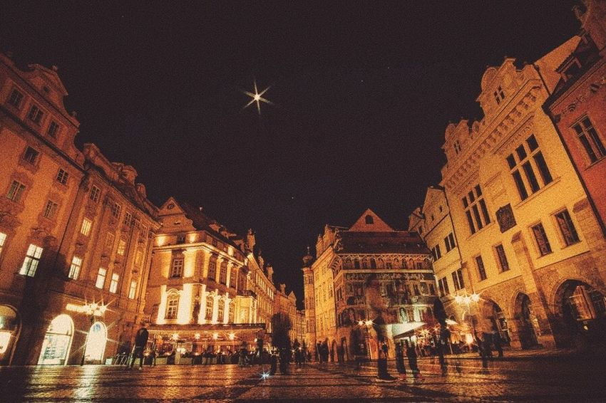 Night in Praha Night Illuminated Architecture Building Exterior Built Structure Sky City Outdoors Star - Space No People Astronomy Praha Travel Destinations Travel Nightphotography Night Lights Long Exposure Been There.
