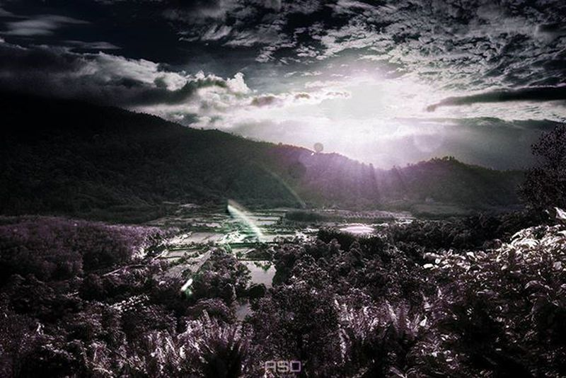 Turned older landscape sunrise shot into infrared-simulate shot! Sunrise Landscape Asdgraphy Infrared Broga