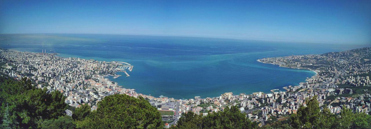 Coastline Landscape Bay Jouniehbay Jounieh Sea Mediterranean  Mediterranean Sea Bluesky Sky Blue Horizon Over Water Horizon The Great Outdoors - 2016 EyeEm Awards