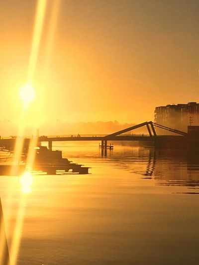 Was a Stunning Morning in My Hood some weeks ago. Sunrise Sunflare Water Water_collection Waterfront Transportation Reflection Nautical Vessel Bridge Mist Misty Morning Sydhavnen Copenhagen Denmark City Cityscape 500px Built Structure Scenics Architecture Beauty In Nature Mode Of Transport Marina Jetty Be. Ready. Perspectives On Nature Stories From The City The Great Outdoors - 2018 EyeEm Awards #urbanana: The Urban Playground Summer In The City