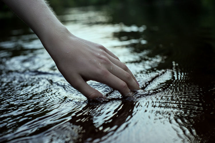 Ceremony Evening Hand Hands Lake Life Lifestyles Live Ritual River Summer Swimming Touch Touching Water