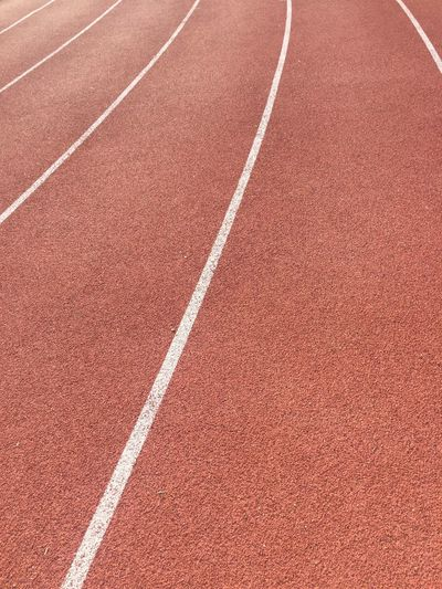 Full frame shot of track and field
