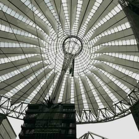 Architecture Built Structure Concentric Day Greenhouse Indoors  Low Angle View No People Pattern Sky Sonybuilding
