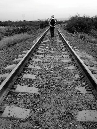 Black And White Train Tracks Sad Time,sad People,sad Love,sad Paradise,sad Life,...~ Sad~