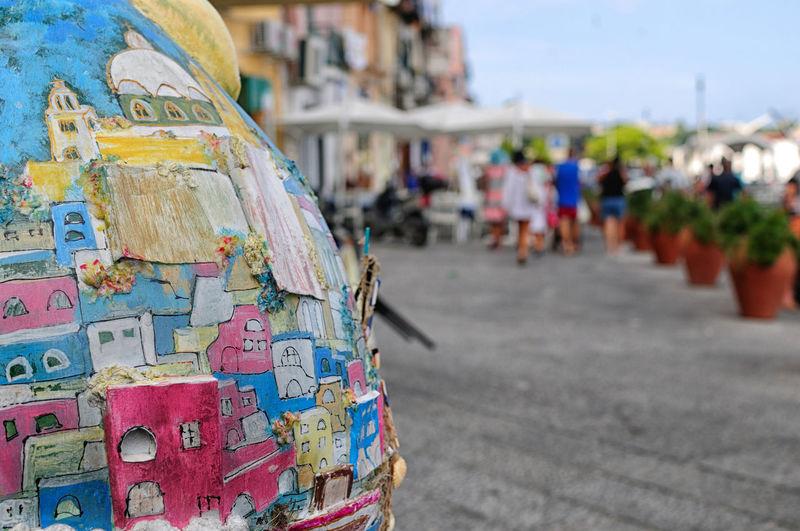Amalfi Coast Bottle Art Close-up Colors Famous Art Nouveau Architecture Italy Multi Colored Naples Outdoors Procida Souvenirs Tourist Attraction