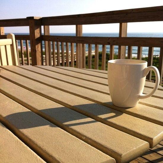 Coffee Cup Coffee - Drink Drink Sunlight Outdoors Beach Sea Nags Head NC
