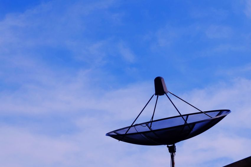 satellite dish on roof with bluesky Blue Sky Bluesky Cloud Roof Communication Satellite Dish Satellite Sky Cloud - Sky Communication Technology Blue Outdoors Day Nature No People Telecommunications Equipment
