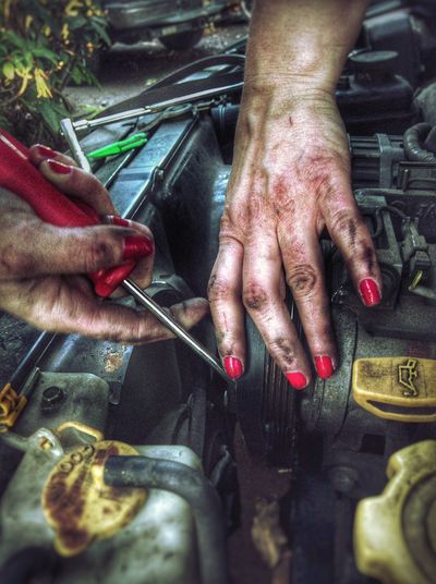 HDR Hands Mechanic Nails Fancy & Filthy Fancy/filthy AwesomeSauce