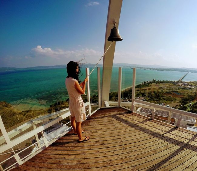 Atsuko at the Kouri Ocean Tower Adult Bell Tower - Tower Day Horizon Over Water Kouri Island Ocean Tower Leisure Activity Nature One Person EyeEmNewHere Enjoying Life Outdoors People Relaxation Ringing Bell Scenics Sea Sky Standing Travel Tropical Climate Vacations Water Wellbeing Women Young Adult