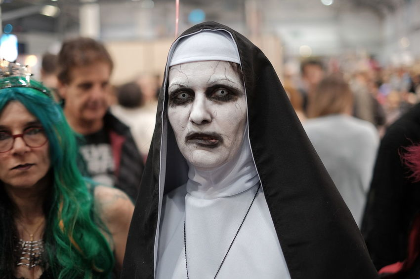 The Nun Real People Focus On Foreground Adult Lifestyles Women People Celebration Costume Portrait Young Adult Leisure Activity Young Women Clothing Cosplay Herofestival Fujifilm Fujifilm_xseries Fujifeed