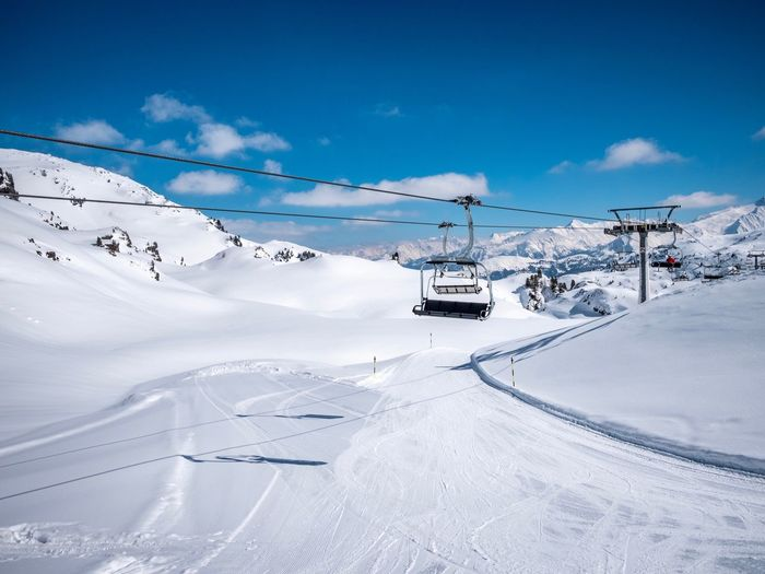 EyeEm Selects Snow Winter Mountain Cable Car Scenics - Nature Beauty In Nature Ski Lift Cold Temperature Day Snowcapped Mountain Cloud - Sky White Color Nature Environment Landscape Sky Transportation Tranquil Scene Outdoors Travel