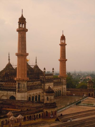 01187 Bara Imambara-Lucknow-India Architecture City Clock Clock Face Clock Tower Day No People Outdoors Politics And Government Sky Sunset Tower Travel Destinations Vertical