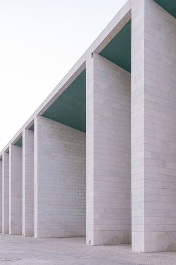 Alvaro Siza EyeEm EyeEm Best Shots EyeEm Selects Architectural Column Architecture Building Building Exterior Built Structure City Clear Sky Concrete Day Education Low Angle View Modern Nature No People Outdoors Pattern Sky Travel Destinations Wall Wall - Building Feature