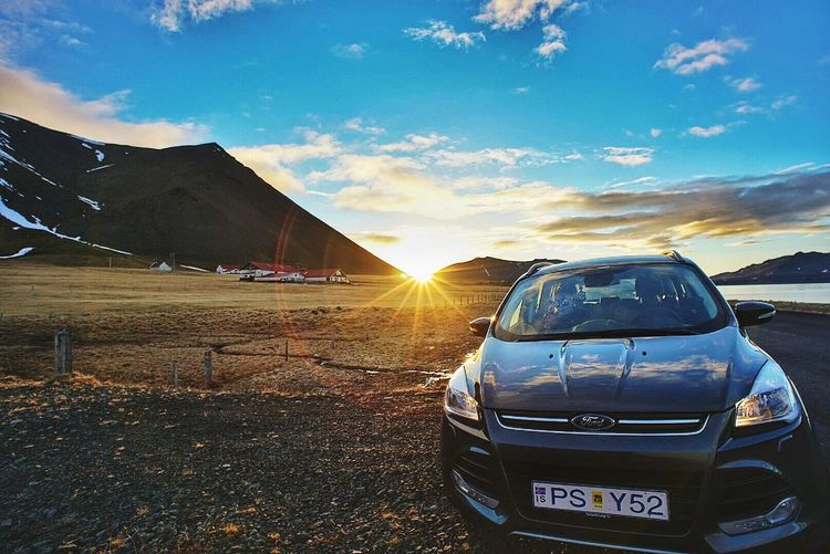 Route one of Iceland MeinAutomoment Iceland Iceland Trip Sunset Love In The Car Relaxing Enjoying Life 4wd Ford Kuga Roadtrip Fresh On Eyeem