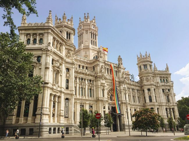 Madrid, Spain Cityhall Mayor Spanish Arquitecture Enjoying The View Pride