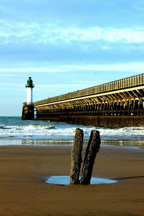 Beach Bridge Sea