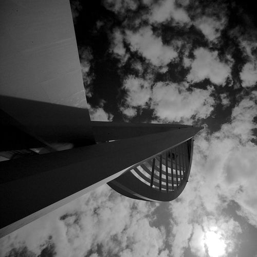 Millennium Tower Cloud - Sky Sky Low Angle View Architecture Built Structure Day Outdoors No People Building Exterior City Building Directly Below Blackandwhite Black And White