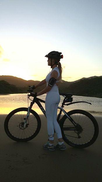 Enjoying The Sun Bike Bikelove Beach Santacatarina  Brasil