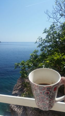 Water Drink Day Refreshment Horizon Over Water Sea Nature Food Flower Sky Freshness Outdoors Coffe Coffee Time Coffee Break Seascape Office View