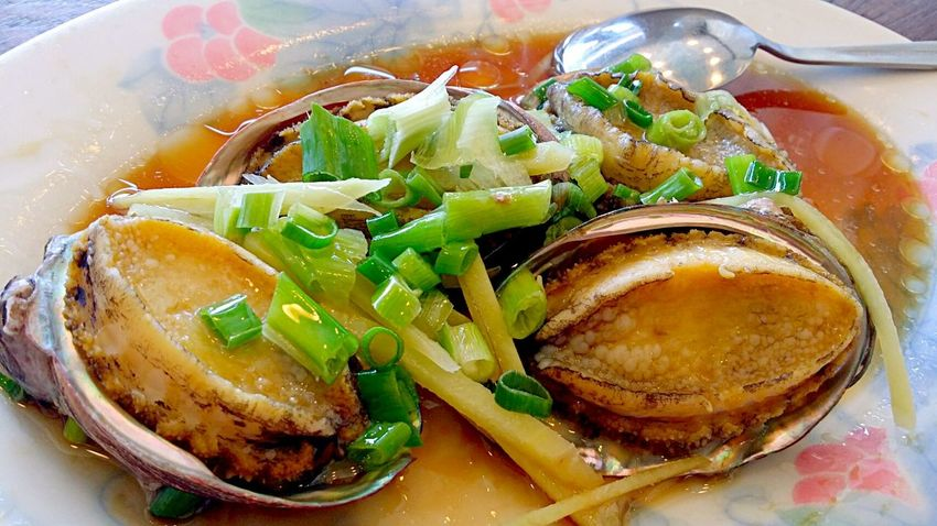 Seafood feast: steamed abalone Seafood Food Porn In My Mouf Chinese Food