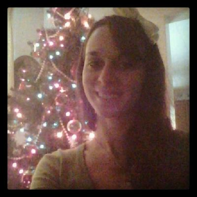 Christmas Selfie Red Green bow christmastree