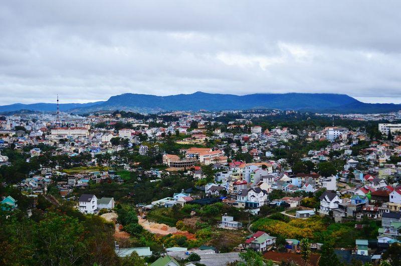 A bird's eye view of Da Lat Da Lat Bird's Eye View Panorama Vietnam