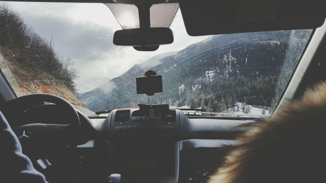 Mountain View Mountains Car Ride  Snow Switzerland Meinautomoment