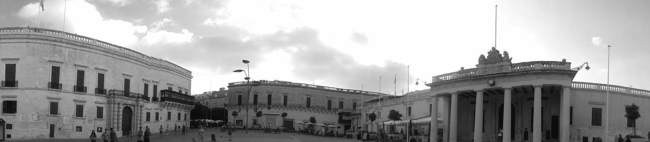 Wide Angle Landscape Valletta,Malta Blackandwhite Historical Building
