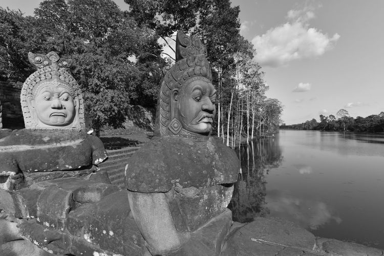 Old Sculptures By River
