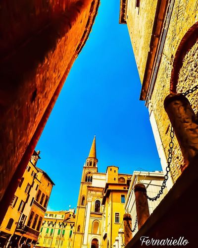 Architecture Built Structure Building Exterior Sky Low Angle View Building Adventures In The City The Past Day Nature Place Of Worship No People Clear Sky History Blue Religion Belief Travel Destinations Spirituality Sunlight Tower