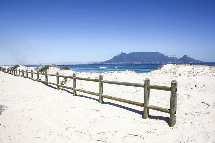 Beach fence on