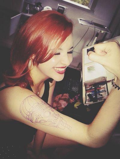 Lets go Redhead Tatoo