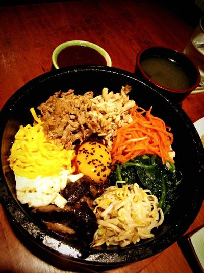 Food Porn Awards Foodphotography Delicious ♡ Dinner Korean Food Bibimbab Onthetable Check This Out Artfood Koreanstyle