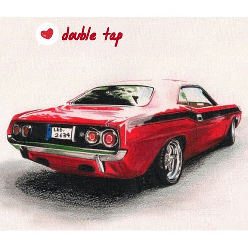 American muscles :) Oldartwork AmericanMuscle Cars Fast instamood instatalent colouredpencils talent