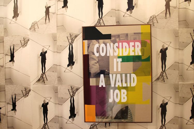 Consider it a valid job Modern Art Art EyeEm Selects Paper Hanging Colorful Composite Image Multi-layered Effect Montage Image Montage Poster Collage