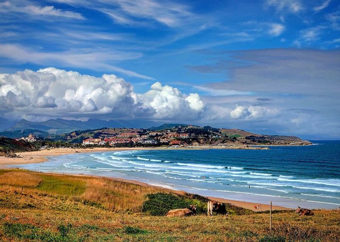 Traveling Nature Discovering Cantabria Panoramic View Incredible San Vicente De La Barquera