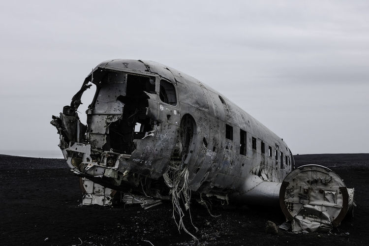 US Navy DC-3 Wreckage. Iceland Nature Sigma Abandoned Accidents And Disasters Adventure Aerospace Industry Air Vehicle Airplane Beach Canon Crash Damaged Decline Deterioration History Land Landscape Mode Of Transportation Nature Obsolete Ruined Sky Transportation Travel First Eyeem Photo The Great Outdoors - 2018 EyeEm Awards My Best Travel Photo My Best Photo The Great Outdoors - 2019 EyeEm Awards
