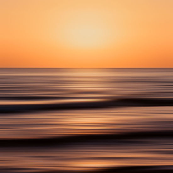 Abstract Photography Sanibel Island Abstract Beach Blurred Motion Florida Horizon Orange Color Sanibel, Fl Sea Sky Summer Sunset Water